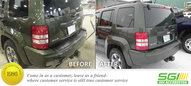 Jeep Rear Bumper Fix